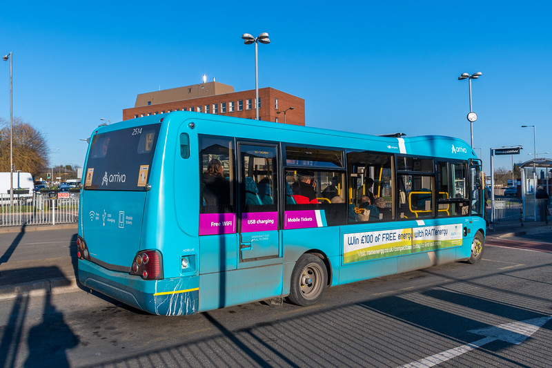 Arriva Midlands Optare Solo SR YJ09MLN 2514, Cannock Bus Station