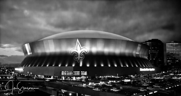 Superdome Saints in B&W 11-28-2011