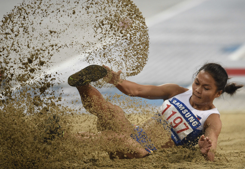 . Philippines\' Marestella Torres competes in the final of the women\'s long jump athletics event during the 17th Asian Games at the Incheon Asiad Main Stadium in Incheon on September 29, 2014.  MARTIN BUREAU/AFP/Getty Images