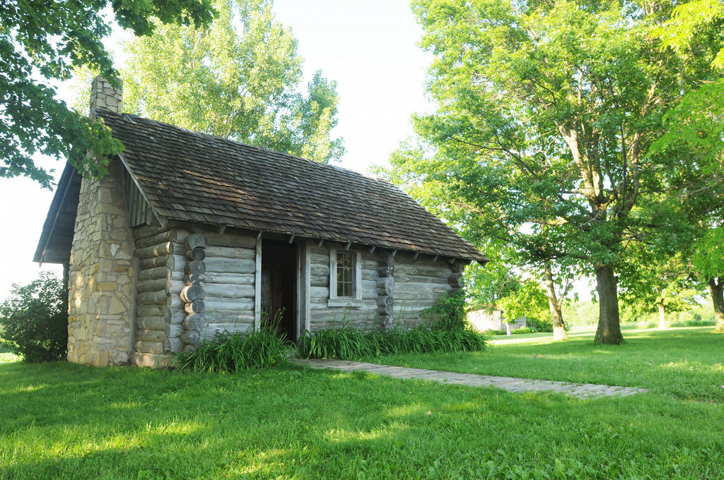 . Little House Wayside, a replica of the home where children\'s author,  Laura Ingalls Wilder was born and inspired her book, Little House in the Big Woods, is located seven miles from the Village of Pepin, Wisconsin. The original log house and barn are now gone is gone and the big woods are now surrounded by farm. (Pioneer Press: Ginger Pinson)