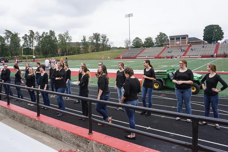 Joyful Hands preparing to perform the National Anthem