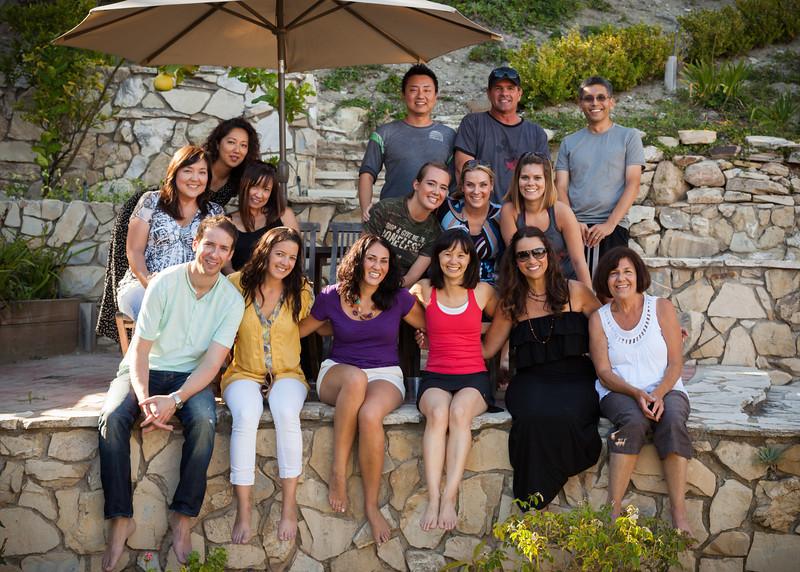 Top row - Jason, Brian, Eric Middle row - Marianne, Stephanie, Joanne,  Peyton, Pauletta, Shannon Bottom row - James, Nadia, Tara, Valerie, Laidinha, Mom