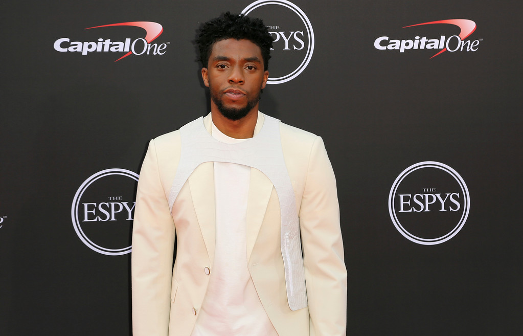 . Chadwick Boseman arrives at the ESPY Awards at Microsoft Theater on Wednesday, July 18, 2018, in Los Angeles. (Photo by Willy Sanjuan/Invision/AP)