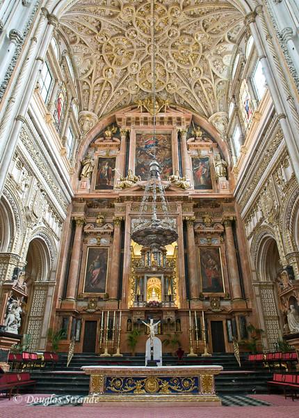 Thur 3/10 in Cordoba: The main altar inside the Mezquita