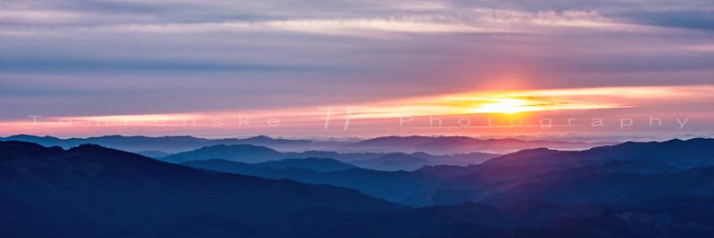 Coastal Range Sunset