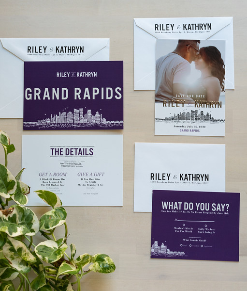 Product Photography | The Printed Event (Wedding Invites) Grand Rapids