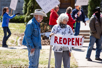 Reopen Minnesota Rally at Governor Walz's Residence, April 17