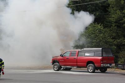 Truck Fire, behind Jamesway Plaza, Tamaqua (8-24-2012)