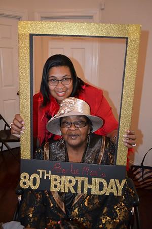 Mrs. Pearlie's 80th Birthday