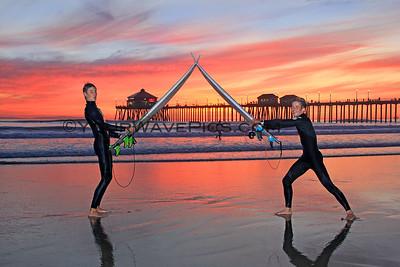 FVHS Surf Team @ HB Pier SS 02/23/16