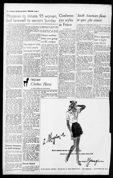 Daily Trojan, Vol. 36, No. 139, June 07, 1945