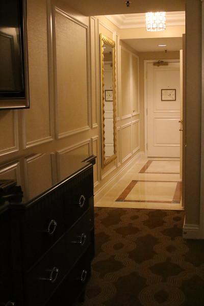 Hotel room entrance
