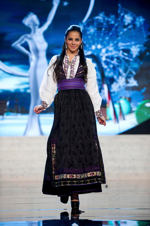 . Miss Norway Sara Nicole Andersen performs onstage at the 2012 Miss Universe National Costume Show at PH Live in Las Vegas, Nevada December 14, 2012. The 89 Miss Universe Contestants will compete for the Diamond Nexus Crown on December 19, 2012. REUTERS/Darren Decker/Miss Universe Organization/Handout
