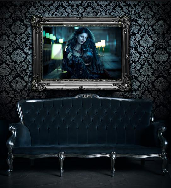 The Raven's Bride framed.
