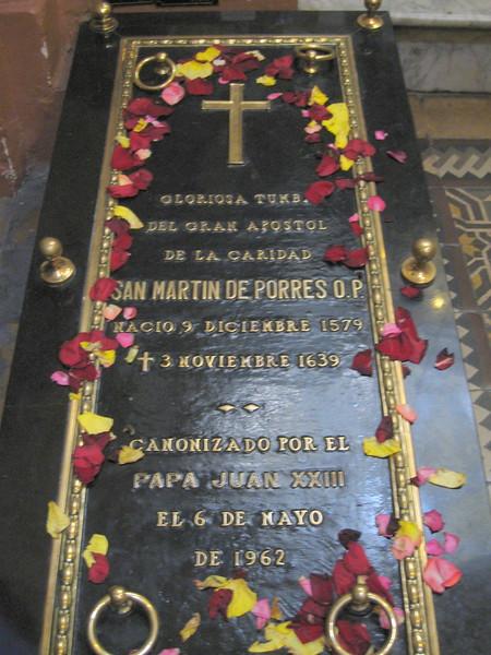 Tomb of St. Martin de Porres, Convent de Santo Domingo, Lima, Peru