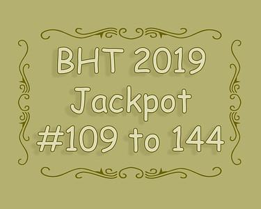 BHT Barrel Racing Jackpot #'s 109 to 144