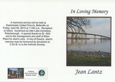 Snapshots from Jean Lantz Celebration of Life