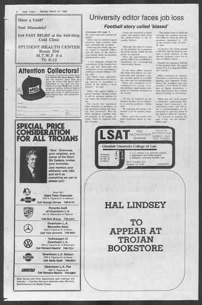 Daily Trojan, Vol. 88, No. 24, March 10, 1980