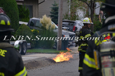 Bellmore F.D. Gas Main Break with Fire 166 Barbara Road 9-18-12