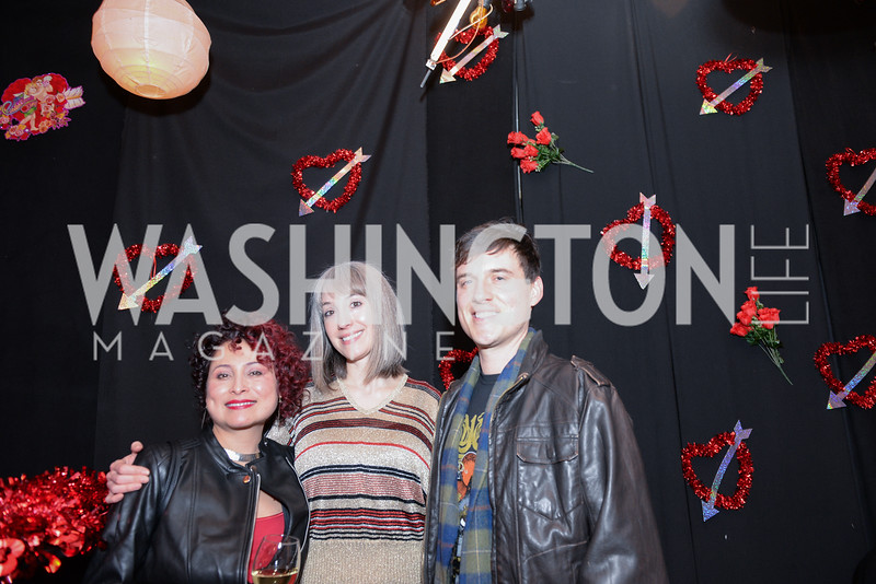 Caroline Mayorga, Emily Gibson, Craig Garrett, Transformer's 2nd Annual Heartbreaker's Ball, Comet Ping Pong, February 17, 2018, photo by Ben Droz.