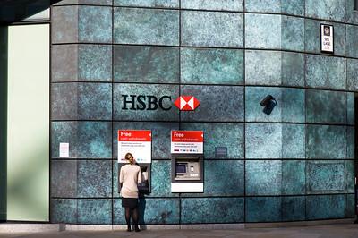 HSBC bank in the City, London, United Kingdom