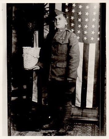 "Joseph I. Dias, U.S. Army, great grandfather to Kristina L. Garcia, who says: ""My great-grandfather, Joseph Dias proudly served in World War I with the 316L Infantry Platoon. He received a Purple Heart Medal and the St. Christopher Medal."""