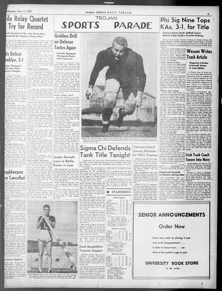 Daily Trojan, Vol. 33, No. 141, May 13, 1942