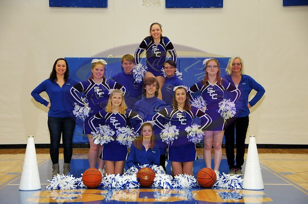 SCC Basketball Cheerleaders 2018