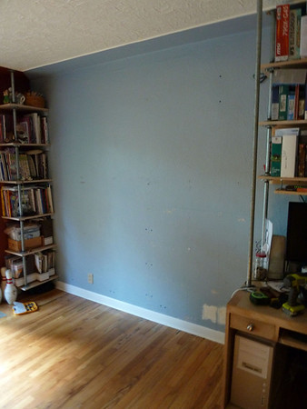 Moving Erika's studio into the front room...