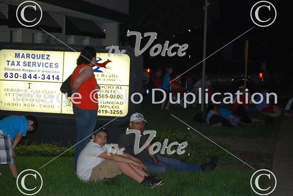 Fireworks at Wilder Park in Aurora, Ill 7-4-13