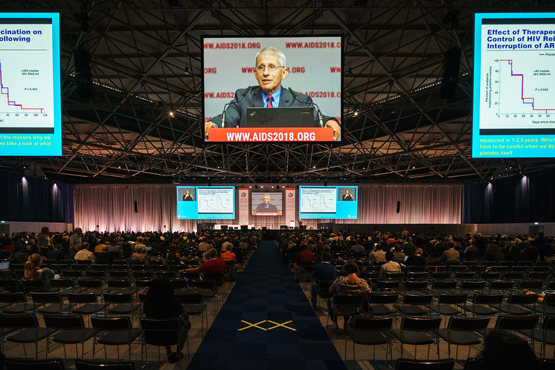 22nd International AIDS Conference (AIDS 2018) Amsterdam, Netherlands.   Copyright: Matthijs Immink/IAS Durable control of HIV infections in the absence of antiretroviral therapy: Opportunities and obstacles and Jonathan Mann Memorial Lecture: Data to drive equity Photo shows:  Anthony Fauci