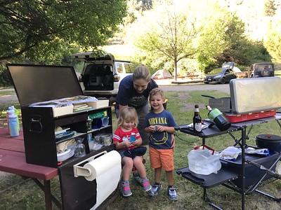 Family Colorado camping and Telluride Bluegrass 6-2017