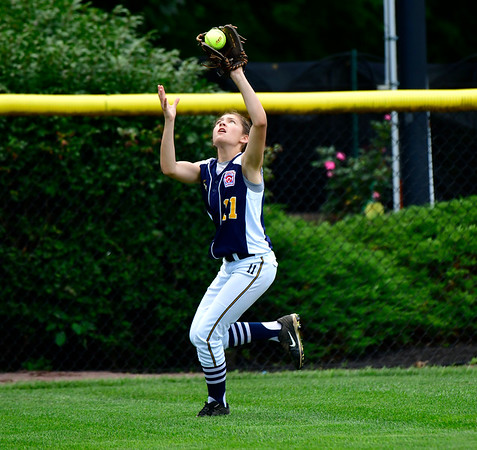 7/25/2019 Mike Orazzi | Staff Connecticut's Angelina Robinson (11) during the Eastern Regional Softball Tournament at Breen Field in Bristol on Thursday.