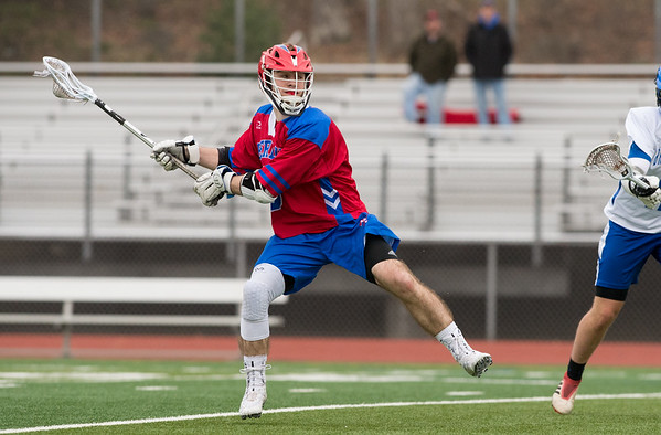 04/18/19 Wesley Bunnell | Staff Berlin boys lacrosse defeated Bristol Eastern at on Thursday afternoon at Bristol Eastern High School. Berlin's TJ Hebert (6).