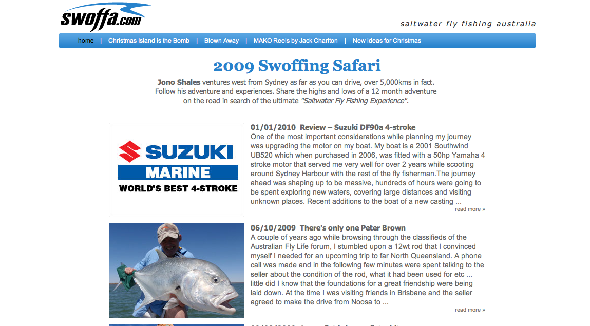 """Jono Shales is one of the few people who has caught a free-swimming marlin on fly & he's done it twice! On a ten weight!<br /> Jono is hard-core! Check out his site at <a href=""""http://www.swoffa.com/"""">http://www.swoffa.com/</a>"""