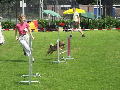 17 juli 2005 Kari's 1e agility-wedstrijd - VRAS Rotterdam