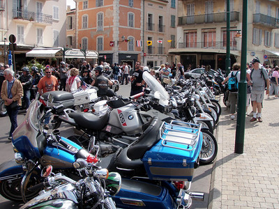 Harleys in St Tropez May 9th 2009
