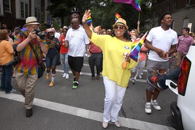 Mayor marches in ROC Pride parade. 7/15/2017
