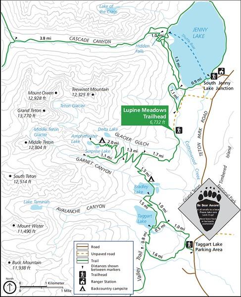 Grand Teton National Park (Lupine Meadows Trailhead)
