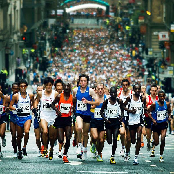 Glasgow Half Marathon and 5k race.