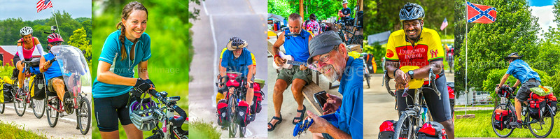 U.S. Bicycle Route System - USBRS - Missouri - Group Tour Riders on USBRS 76/ACA TransAm Route