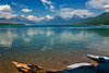 Kayaks on Lake McDonald