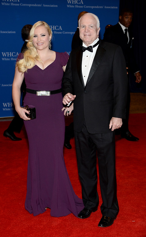 . Megan McCain and Senator John McCain attend the 100th Annual White House Correspondents\' Association Dinner at the Washington Hilton on May 3, 2014 in Washington, DC.  (Photo by Dimitrios Kambouris/Getty Images)
