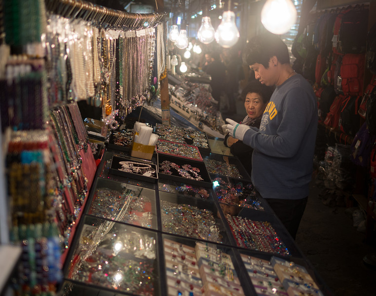 Street vendors. Namdaemun market.