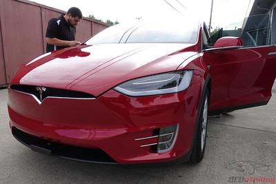 2017 Tesla Model X - Red Multi-Coat