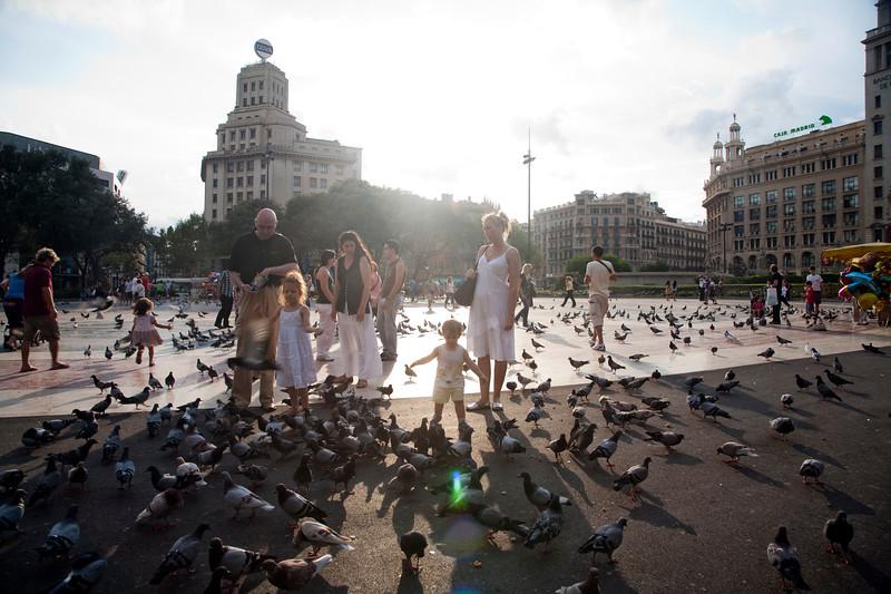 Catalunya Square, town of Barcelona, autonomous commnunity of Catalonia, northeastern Spain