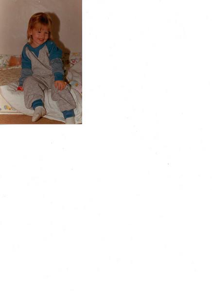 Amanda on bed, Kingsclere