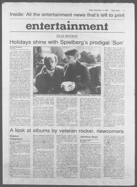 Daily Trojan, Vol. 105, No. 68, December 11, 1987