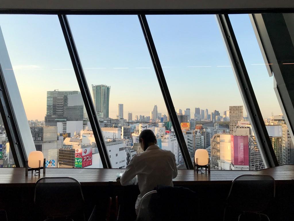 Seat with a view, Shibuya Scramble Square