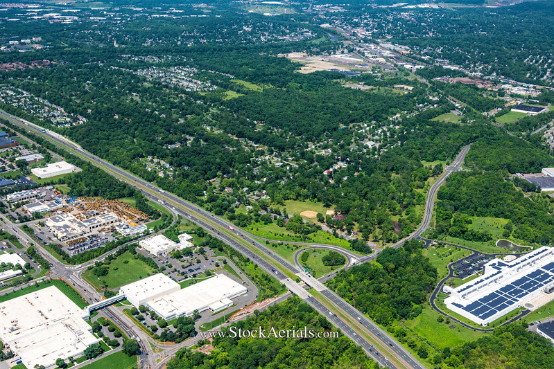 Aerial Photography of Rt 287 Exit 8